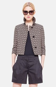 Akris+punto+Embroidered+Crop+Jacket+available+at+#Nordstrom