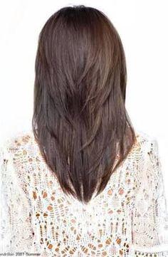 Medium length haircut back