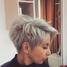 Permalink to bob hairstyles for thick hair Short Grey Hair, Short Hair Cuts, Funky Hairstyles, Pretty Hairstyles, My Hairstyle, Hair Brained, Great Hair, Hair Today, Hair Dos