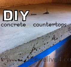 DIY : How to Pour Concrete Counter Tops   Easy pour in place method! & Cheap   counter top update