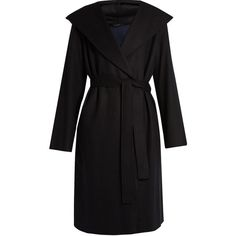 The Row Marney wool-blend coat (3.755 BRL) ❤ liked on Polyvore featuring outerwear, coats, black, wool blend wrap coat, shawl collar wrap coat, wrap coat, shawl collar coats and wool blend coat