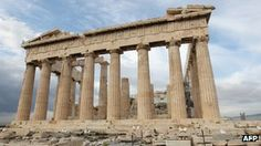 A Greek minister blames the European Union for allowing his country to slide into the debt crisis it is currently enduring. Parthenon, Acropolis, Places To Go, Pergola, Greek, Outdoor Structures, Spaces, Country, Travel