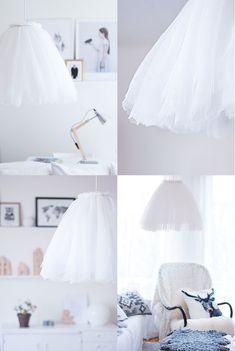 Ljuv och modern i perfekt balans. Gör en Liv-lampa med välkända balettkjolen i tyll själv. Klicka på bilden för instruktioner från begåvade Pastill.