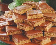 Glazed Peanut Butter Bars Recipe