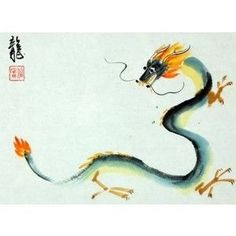 Those born in the year of the dragon are active, firm, proud and disagreeable… Chinese Typography, Typography Art, Chinese Zodiac Dragon, Year Of The Dragon, Watercolor Logo, China Painting, Disney Tattoos, Dragon Art, Graphic Design Posters