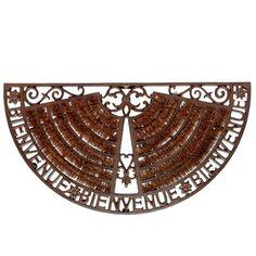 Paillasson en fer forgé marron 37 x 70 cm WELCOME