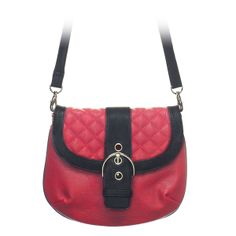 """Leigh-Red Grace Adele Clutch    Sophisticated — but never stuffy. Classic quilt detailing or sleek animal print cinched with an oversized silver buckle.     Fits inside the exterior pocket on your favorite Grace Adele bag.     • Faux leather  • 10"""" L, 8"""" H  • 50.5"""" detachable/adjustable strap    https://myfashions.graceadele.us/GraceAdele/Buy/ProductDetails/10578"""