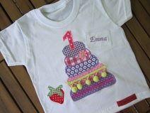 ♥ Geburtstagsshirt Torte mit Wunschzahl + Name