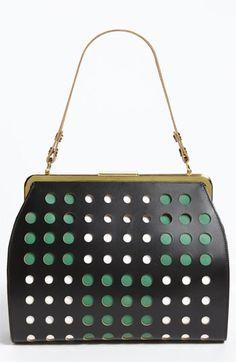 Marni Polka Dot Frame Handbag