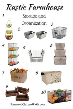 Rustic Farmhouse Storage and Organization Ideas