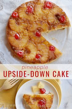 This pineapple upside down cake is refreshing and wonderfully fruity. It's perfect for a little treat during your family Easter feast! Delicious Cake Recipes, Yummy Cakes, Sweet Recipes, Dessert Recipes, Dessert Dips, Donut Recipes, Copycat Recipes, Pie Recipes, Chocolate Truffle Cake
