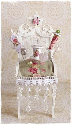 To scrap or not to scrap, that's the question.: Shabby Chic Pincuchion chair
