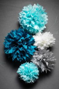 Alex's Room: cluster together, hang with other poms and garland off the ceiling