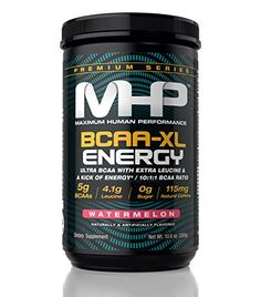 MHP BCAAXL Energy Ultra BCAA with Extra Leucine 1011 BCAA Ratio Watermelon 106 Ounce *** To view further for this item, visit the image link.  This link participates in Amazon Service LLC Associates Program, a program designed to let participant earn advertising fees by advertising and linking to Amazon.com.