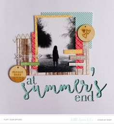 #papercrafting #scrapbook #layout - Summers End by kymkt at @studio_calico