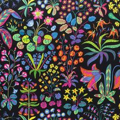 Under Ekvatorn is one of the boldest linen cretonnes that Josef Frank designed. He designed this luxurious print in September - Fabric Sample Under Ekvatorn, Linen Under Ekvatorn, Black, Josef Frank Josef Frank, Fabric Patterns, Color Patterns, Print Patterns, Color Schemes, Types Of Curtains, Textiles, Patterns In Nature, Fabric Samples