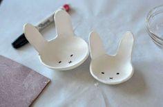 DIY: ¡cuencos preciosos con forma de conejito!