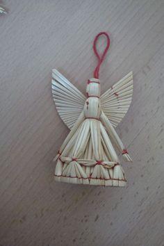 Stroh Engel, Strohsterne, Strohengel, Weihnachtsbaumschmuck, Christbaumschmuck