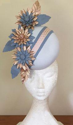 62a63af1f48a2 Fascinator Hats, Fascinators, Headpieces, Periwinkle Blue, Pastel Blue,  Blue Hydrangea,