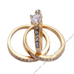 18KGF Crystal Women Joker Rhinestone Cathedral Finger Ring #eozy