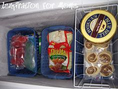 Dollar store baskets for the freezer. Thats a yes.