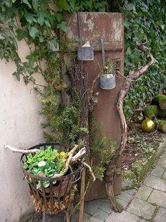 Ba-Wüler in April – Page 11 – My beautiful garden forum – old milk churns … - Modern Home Vegetable Garden, Herb Garden, Garden Art, Diy Garden, Garden Ideas, Amazing Gardens, Beautiful Gardens, Small Back Gardens, Old Milk Cans