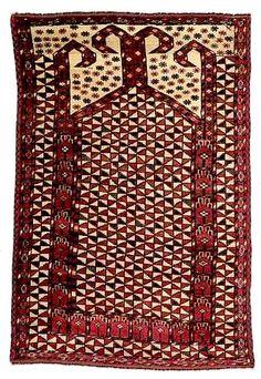 A rare Ersari prayer rug, AMU-DARYA-AREA, late 19th ct.