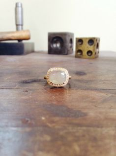 One of a Kind Pale Taupe Sapphire Ring