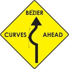 Bezier Curves Ahead by FairyFindings.deviantart.com