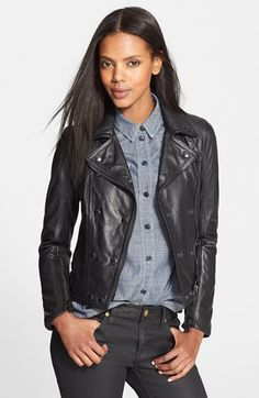 Burberry Brit 'Isleigh' Lambskin Leather Jacket available at #Nordstrom