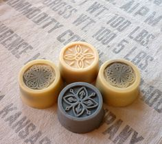 4 bars of goat milk soap with lavender by Graphisoap on Etsy