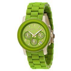 Michael Kors Lime Green Chronograph Watch