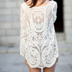 Floral Sexy Lace Tank Top  Loose Fit