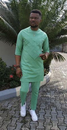 Latest African Men Fashion, Latest African Wear For Men, African Shirts For Men, African Dresses Men, Nigerian Men Fashion, African Clothing For Men, African Attire, Gents Kurta Design, Native Wears