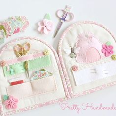 My new book titled 'Pretty Handmades: Felt and Fabric Sewing Projects to Warm Your Heart' is due for release later this year. Thanks to Tuva Publishing for this wonderful opportunity! This bee-hive themed sewing kit / needle book is just one of the includ Needle Case, Needle Book, Needle Felting, Sewing Case, Hand Sewing, Fabric Sewing, Sewing Hacks, Sewing Crafts, Sewing Projects