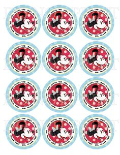 Minnie Mouse Vintage Look PRINTABLE Favor Tags by PixelStickStudio, $5.00