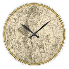 Teapot tea cup mirror wall clock motif izimleri pinterest steampunk vintage world map wall clock gumiabroncs Gallery