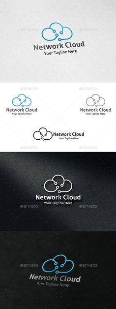 Network Cloud - Logo Template