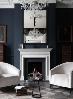 Paint Color Farrow And Balls Hague Blue Perfect Navy With A Hint Of Peacock For Smaller Cozy Rooms