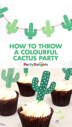 Celebrate summer with a colourful cactus party! We've got cute cactus decorations, easy party DIYs and more!
