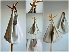 Le sac origami Origami bag Origami and Bag Origami bag - site in German. Origami-Bag: in 30 Minuti it's ready to go Purse Patterns, Sewing Patterns Free, Free Sewing, Sewing Tutorials, Sewing Projects, Sewing Crafts, Quilting Patterns, Sacs Tote Bags, Triangle Bag