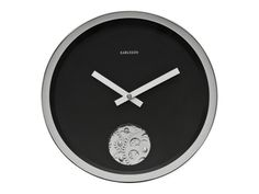 9 Black & White Wall Clocks for the Minimalist Home Office Black And White Furniture, White Wall Clocks, Minimalist Home, Home Office, Monochrome, Interior Design, Spaces, Accessories, Watch