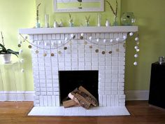 decorate non functional fireplace - Google Search