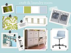 Laundry Room Home Tour | Teal and Lime Color scheme I likey