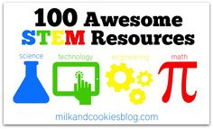 STEM: 100 Awesome STEM Resources for middle to high school (links with brief explanations). 6th Grade Science, Stem Science, Middle School Science, Math Stem, Mad Science, Science Ideas, Science Classroom, Teaching Science, Science Education