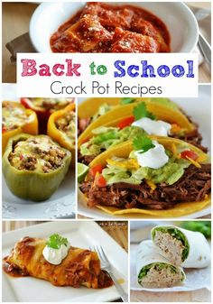 26 Back to School Crock Pot Recipes | www.thecountrycook.net