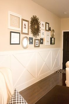 Easy And Cheap Diy Ideas: High Wainscoting Ideas wainscoting bedroom house.Wainscoting Bar Dining Rooms white wainscoting board and batten. Wainscoting Height, Painted Wainscoting, Wainscoting Bedroom, Dining Room Wainscoting, Wainscoting Styles, Dining Room Wall Decor, Black Wainscoting, Wainscoting Panels, Diy Rangement