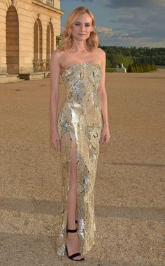 Diane Kruger from The Best of the Red Carpet  Goddess divine! She's even more perfect than ever in this gilded side-slit Jason Wu gown at Martell Cognac's 300thanniversary bash at the Palace of Versailles.