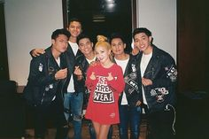 Finger heart with my boys Ford, Tristan, Russel, Niel & Joao 💕 Russell Reyes, 2ne1 Dara, Finger Heart, Sandara Park, My Boys, Superstar, Ph, Christmas Sweaters, Ford