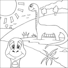coloring page dinosaurs 2 - iguanodon | coloring | pinterest ... - Dinosaurs Coloring Pages Kids